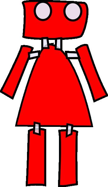 robotgirl clip art at clkercom vector clip art online