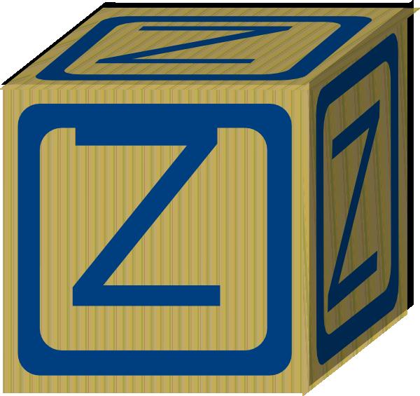 Letter Alphabet Block Z Clip Art at Clker.com - vector ...