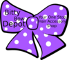 Bow With Polka Dots, Company Name And Slogan Clip Art