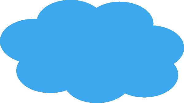 blue cloud clip art at clker com vector clip art online royalty rh clker com cloud clip art images cloud clip art transparent background