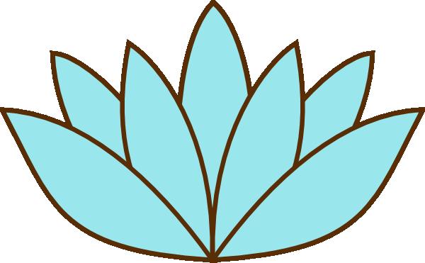 Teal Lotus Flower Clip Art At Clker Com