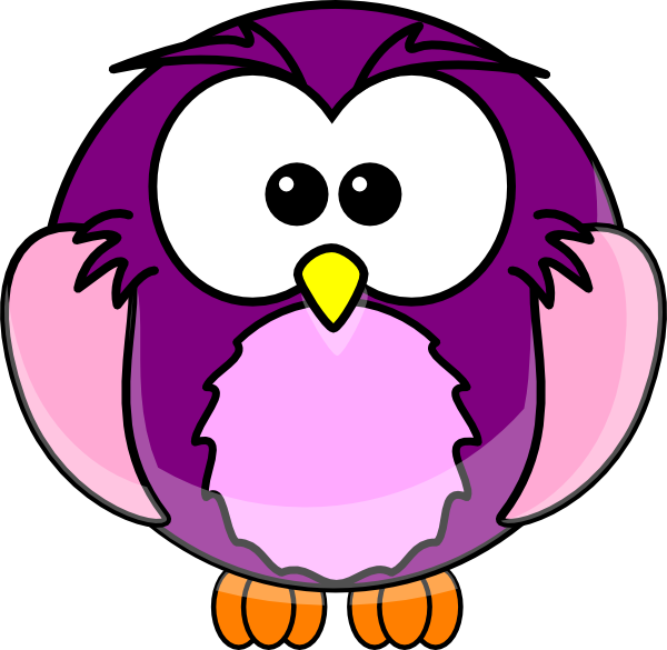 Purple cartoon owl clip art at vector clip art for A cartoon owl