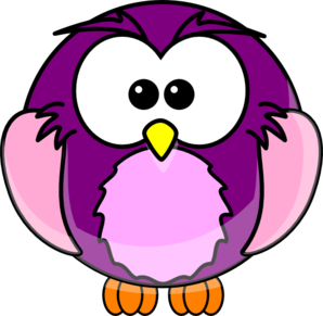 Purple Cartoon Owl Clip Art