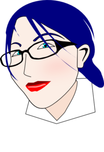 Blue Haired Woman Clip Art