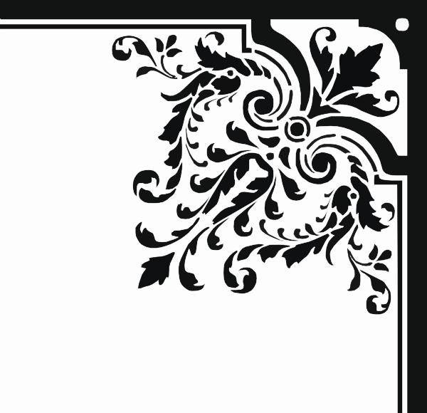corner floral ornament clip art at clker com vector clip art online royalty free public domain clker