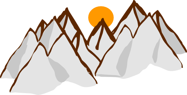 mountain range sunset clip art at clker com vector clip art online rh clker com clip art of mountains outline clip art of mountain climbing