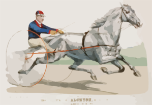 Trotting Stallion Alcryon, By Alcyone: Record 2:15 1/4 Clip Art