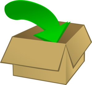 In To The Box Clip Art