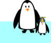 Penguin Mom And Son Clip Art