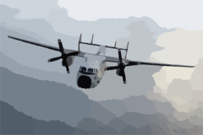 A C-2a Greyhound Assigned To The Rawhides Of Fleet Logistics Support Squadron Four Zero (vrc-40) Based In Norfolk, Va., Makes A Logistics Run To Uss Enterprise (cvn 65). Clip Art