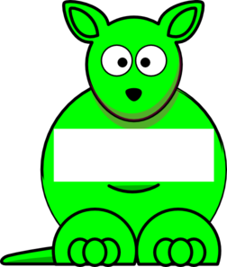 Green Sightword Kangaroo Clip Art