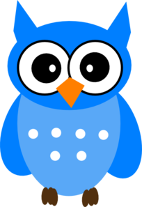 blue owl clip art at clker com vector clip art online royalty rh clker com Grey Owl Clip Art cute blue owl clip art