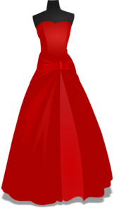 Red Wedding Gown Clip Art