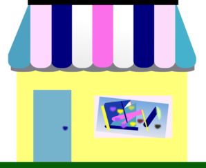 New House Of Thrifts Store Logo With Art Clip Art