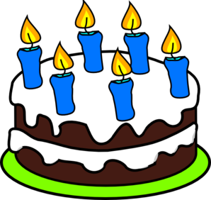 Cake 6 Candles Clip Art