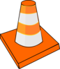 Orange Traffic Cone Clip Art