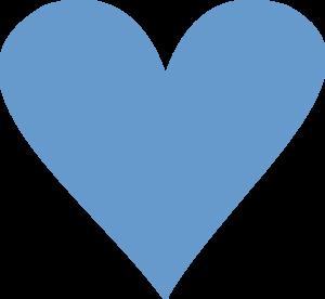 blue heart clip art at clker com vector clip art online royalty rh clker com blue heart outline clipart navy blue heart clipart