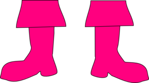 Small Pirate Pink Boots Clip Art