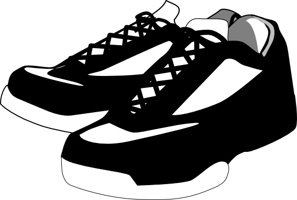 black and white shoes tennis clip art at clkercom