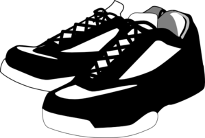 Black And White Shoes Tennis Clip Art