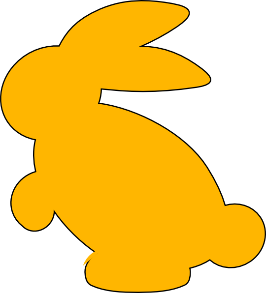 clipart image bunny silhouette - photo #21