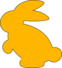 Yellow Bunny Silhouette Clip Art