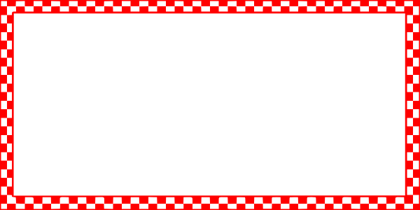 Red Checkered Border
