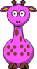 Pink Giraffe With 12 Dots-fixed Nose Clip Art