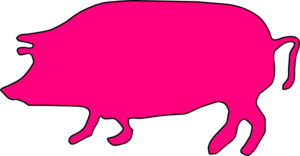 Pink Pig Silhouette