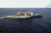 The Guided Missile Cruiser Uss San Jacinto (cg 56) Underway Conducting Combat Missions In Support Of Operation Iraqi Freedom. Clip Art