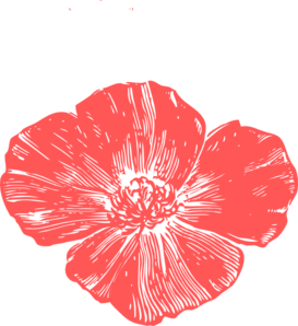 Peach Poppies Clip Art