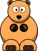 Orange Bear Clip Art