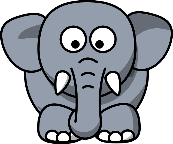 Gray Elephant Clip Art at Clker.com - vector clip art ...
