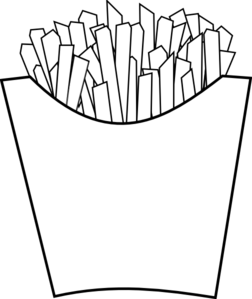 French Fries Line Art Clip Art