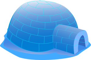 Big Blue Igloo Clip Art