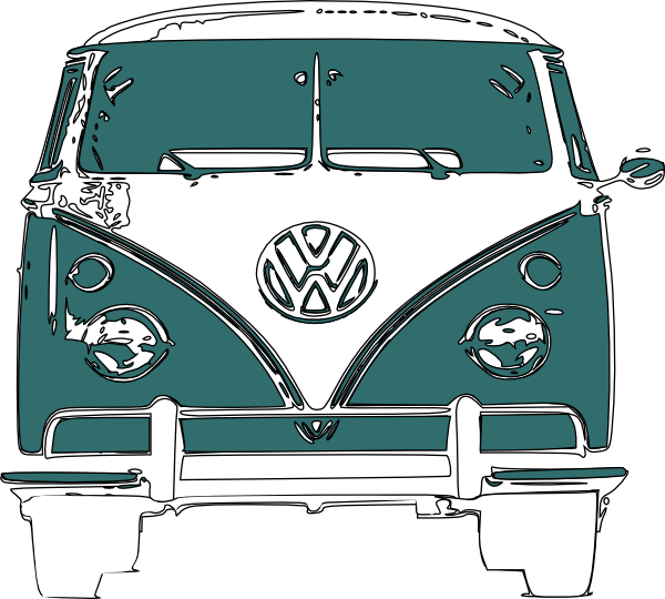 Vw Camper Van Clip Art At Clker