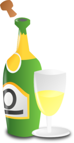 Champagne Bottle And Cup Clip Art