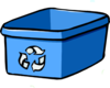 Recycle Bin Blue Clip Art