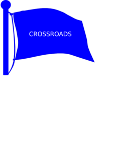 Crossroads Flag On Pole Clip Art