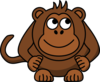Monkey Looking Right-up Clip Art