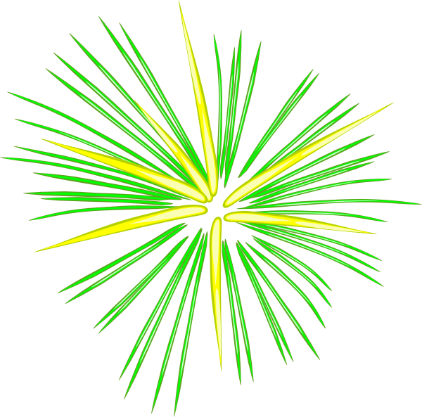 Large Green Fireworks Clip Art at Clker.com - vector clip ...