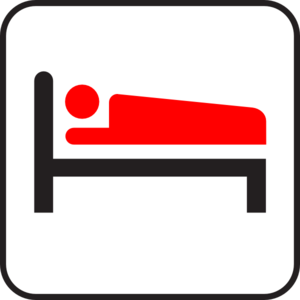 Sleeping Man Icon Clip Art