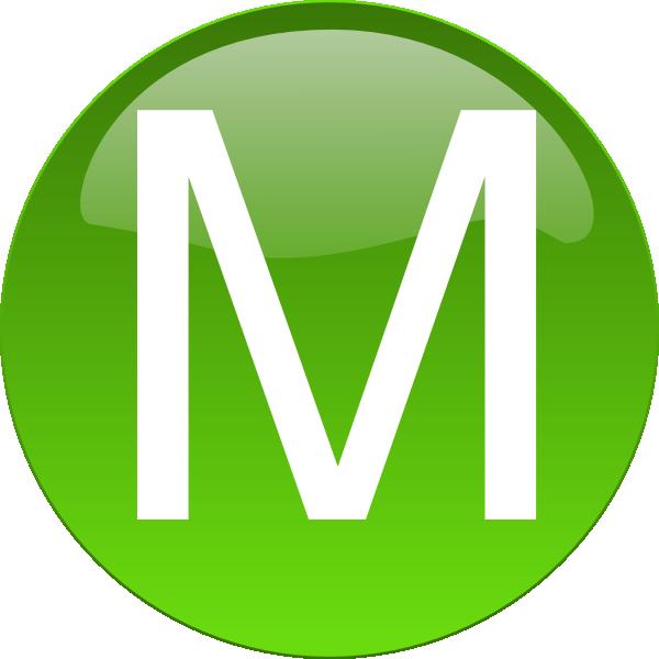 Green M Clip Art At Clker Com Vector Clip Art Online Royalty Free