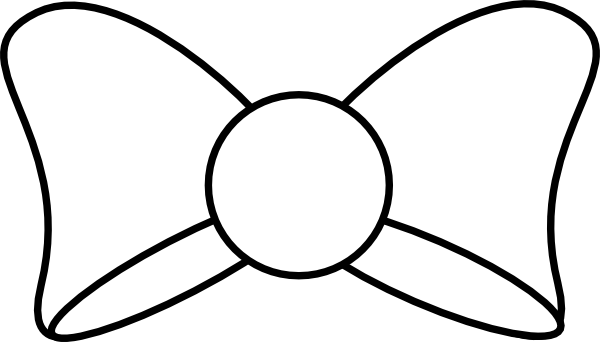 clipart bow tie outline - photo #6
