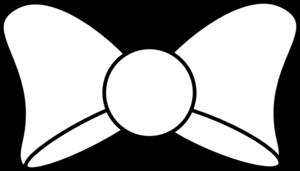 Black Bow Outline Clip Art at Clker.com - vector clip art online ...