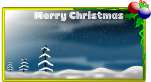 Merry Christmas Card Clip Art