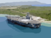 The Aircraft Carrier Uss Carl Vinson (cvn 70) Pier Side In Apra Harbor, Guam Clip Art