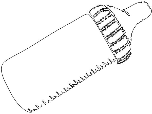 baby bottle outline clip art at clkercom vector clip