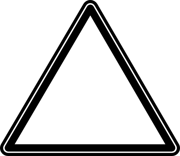 White triangle clip art at vector clip art online royalty free public domain - Poel van blanco hoek ...