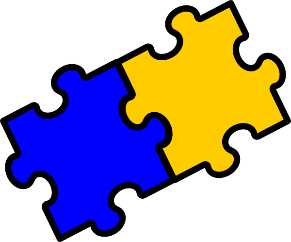 Puzzle Pieces Clip Art at Clker.com - vector clip art ...